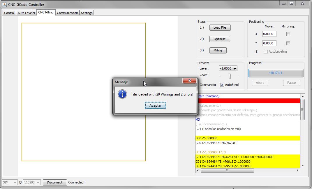 CNC – Inkscape, generar un Gcode