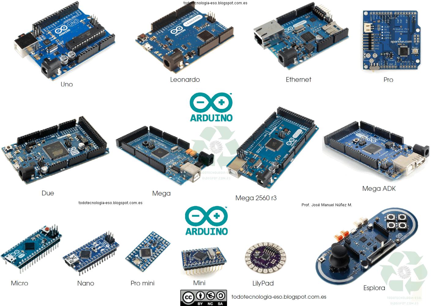 Arduino – Modelos mas usados